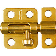 National Hardware N213-405 N327-403 Window Barrel Bolt Solid Brass 2 Inch Bright Brass