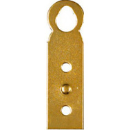 National Hardware N213-413 2 By 9/16 Inch Bright Brass Hanger Plate
