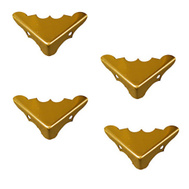 National Hardware N213-454 Decorative Corners 9/16 By 1-1/4 Inch Bright Solid Brass 4 Pack