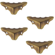 National Hardware N213-462 Decorative Corners Antiqued Solid Brass 9/16 By 1-1/4 Inch 4 Pack