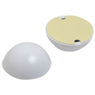 National Hardware N213-561 Dome Plastic Door Bumpers 2-1/4 Inch White 2 Pack
