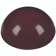 National Hardware N213-587 Dome Plastic Door Bumpers Brown 2 Pack