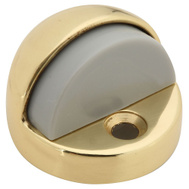 National Hardware N215-806 High Rise Dome Floor Door Stop Bright Solid Brass