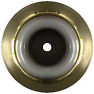 National Hardware N215-855 Concave Wall Door Stop 2-1/4 Inch Bright Solid Brass