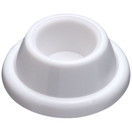 National Hardware N215-897 Concave Wall Door Stops 1-7/8 Inch White 2 Pack