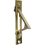 National Hardware N216-051 S837-583 Door Edge Pull 3-7/8 Inch For Pocket Doors Solid Brass Polished Brass