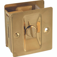 National Hardware N216-077 Privacy Knotched Pocket Door Latch Solid Brass Polished Brass