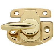 National Hardware N216-119 Tight Seal Solid Brass Window Sash Lock Polished Brass