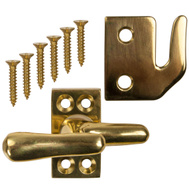 National Hardware N216-127 Wood Casement Fastener Lifetime Bright Solid Brass
