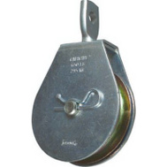 National Hardware N220-004 Swivel Single Pulley 3 Inch Zinc Plated Steel Body