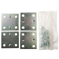 National Hardware N220-087 S839-167 Wide Mending Plate Brace 1-1/2 By 1-3/8 By 0.07 Inch Zinc Plated Steel 4 Pack