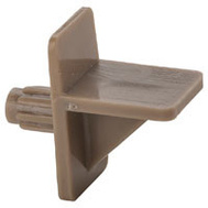 National Hardware N224-683 Shelf Support Tan Plastic 1/4 Inch Hole 8 Pack