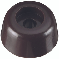 National Hardware N225-342 Round Screw-In Bumpers 1/2 Inch Brown 4 Pack