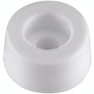 National Hardware N225-359 Round Screw-In Bumper 1/2 Inch White 4 Pack