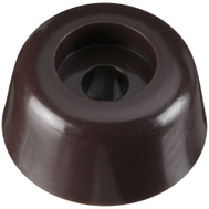National Hardware N225-367 Round Screw-In Bumpers 3/4 Inch Brown 4 Pack