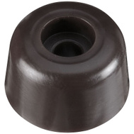 National Hardware N225-375 Round Screw-In Bumper Brown 7/8 Inch