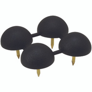 National Hardware N225-391 Round Tack In Bumper 3/8 Inch Black 4 Pack