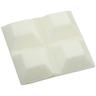 National Hardware N225-458 Square Bumper Self Adhesive White 3/4 Inch 4 Pack