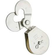 National Hardware N225-623 Scissor Hook Single Pulley 2-1/2 Inch Zinc Plated Steel Body