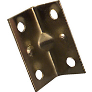 National Hardware N226-258 Wide Inside Corner Braces 1-1/2 By 3/4 By 0.04 Inch Brass Finish Steel 4 Pack