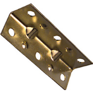 National Hardware N226-266 2-1/2 By 3/4 Inch Brass Corner Braces 4 Pack