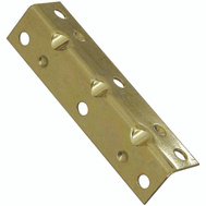 National Hardware N226-274 Wide Inside Corner Braces 3-1/2 By 3/4 By 0.04 Inch Brass Finish Steel 4 Pack