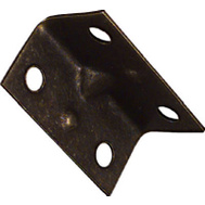 National Hardware N226-282 1-1/2 By 3/4 Inch Antique Brass Corner Braces 4 Pack