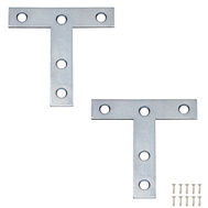 National Hardware N226-654 N113-704 S755-750 T Plates 3 By 3 By 0.07 Inch Zinc Plated Steel 2 Pack
