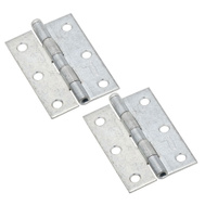 National Hardware N227-207 N142-034 Removable Pin Narrow Hinges 3 By 2 Inch Zinc Plated Steel 2 Pack