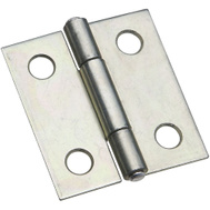 National Hardware N227-231 N146-043 S751-560 Non-Removable Fixed Pin Narrow Hinges 1-1/2 By 1-3/8 Inch Zinc Plated Steel 2 Pack