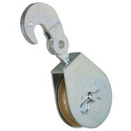 National Hardware N229-005 Swivel Hook Single Pulley Zinc Plated 3 Inch