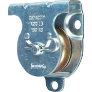 National Hardware N233-247 Wall Ceiling Mount Single Pulley 1-1/2 Inch Zinc Plated Steel Body