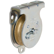 National Hardware N233-254 Wall Ceiling Mount Single Pulley 2 Inch Zinc Plated Steel Body