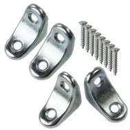 National Hardware N234-617 N229-112 Chair Corner Braces 1 By 1 By 3/4 Inch Zinc Plated Steel 4 Pack