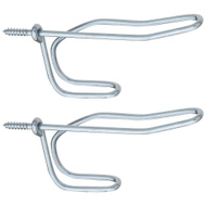 National Hardware N234-757 Wire Coat And Hat Hooks Zinc Plated 2 Pack