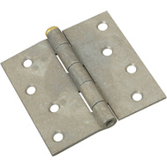 National Hardware N235-457 Removable Pin Broad Hinge 4 Inch Galvanized Steel With Brass Pin
