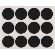 National Hardware N237-065 Felt Pads 3/4 Inch Round Black 24 Pack