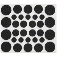 National Hardware N237-081 Felt Pads Black 64 Piece Assorted Sizes