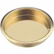 National Hardware N237-321 Recessed Round Cup Pull 1-3/4 Inch Bright Brass Finish