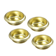 National Hardware N237-438 Recessed Finger Grip Cup Pulls 3/4 Inch Bright Brass 4 Pack