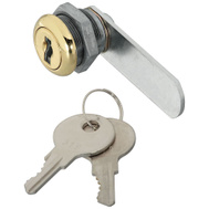 National Hardware N239-145 Door Drawer Utility Lock Keyed Differently 1/4 Inch Brass Plated