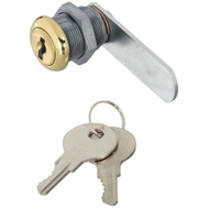 National Hardware N239-160 Door Drawer Utility Lock Keyed Differently 1/2 Inch Brass Plated