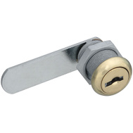 National Hardware N239-178 Door Drawer Utility Lock Keyed Alike 1/2 Inch Brass Plated