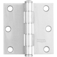 National Hardware N240-457 Door Hinge 3-1/2 Inch Square Corner White