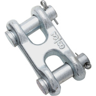 National Hardware N240-887 N240-857 Double Clevis Link 3/8 Inch Zinc Plated Forged Steel