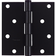 National Hardware N241-208 4 Inch Square Corner Door Hinge Black
