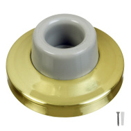 National Hardware N243-873 N198-069 2-3/8 Inch Concave Wall Door Stop Bright Brass On Brass