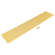 National Hardware N244-061 Kick Plate 6 By 34 Inch Bright Brass Anodized Aluminum
