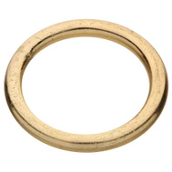 National Hardware N244-111 Welded Ring #3 By 1-1/2 Inch Brass Plated Steel