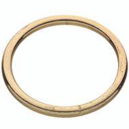 National Hardware N244-137 Welded Ring #2 By 2-1/2 Inch Brass Plated Steel